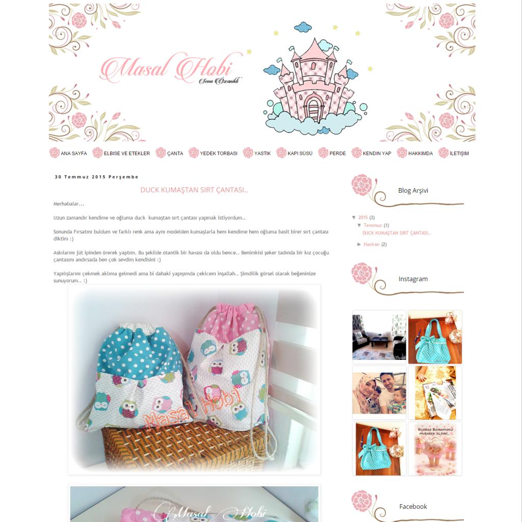 Masal Hobi Blogger Tasarımı