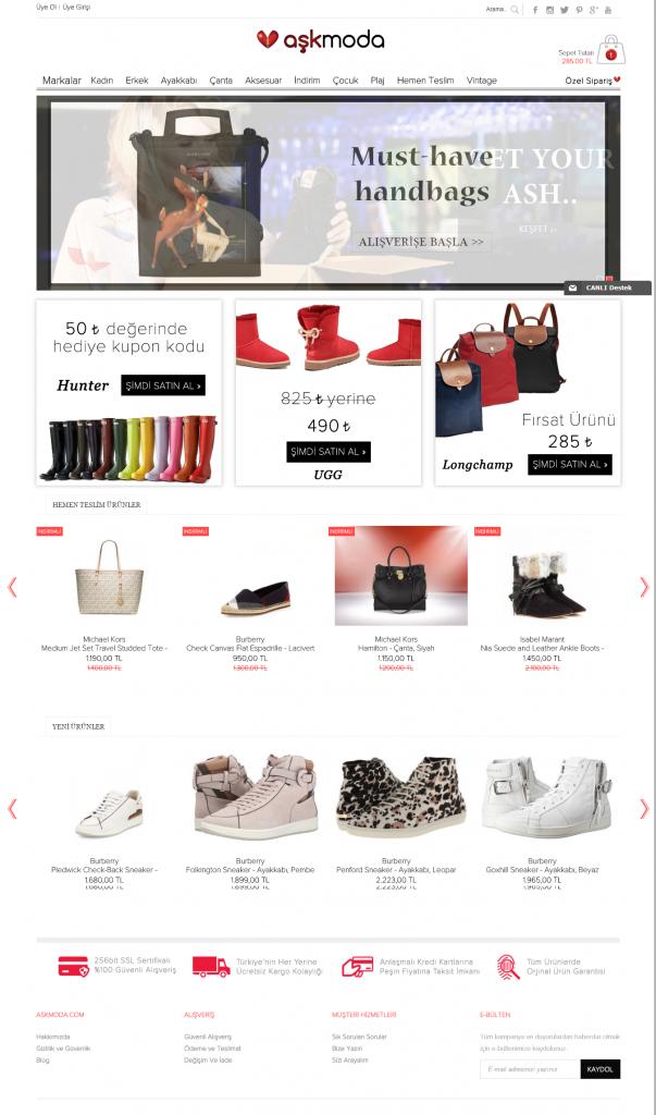 Aşk Moda ideasoft tasarımı