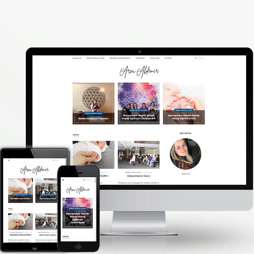 Arzu Akdemir Blog Tasarımı